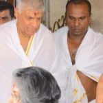 Ranil seeks deities' support after appearing before Presidential Commission