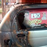 Car of JVP candidate for Embilipitiya torched