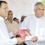 Maithri – Ranil disagreement puts off cabinet reshuffle