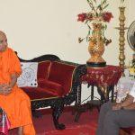 Anura discusses communal clashes with Mahanayakas