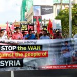 """Hands off Syria!"" – protest by SYU"