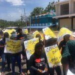 Students from Trinco campus protest against arbitrary suspensions